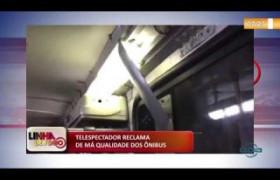 LINHA DE FOGO 07 01 2020 TELESPECTADOR RECLAMA DE MÁ QUALIDADE DOS ÔNIBUS