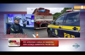 LINHA DE FOGO 08 01 2020 PRF APREENDE CARGA DE MADEIRA ILEGAL NA BR-316