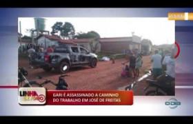 LINHA DE FOGO 14 01 2020  Gari é assassinado a caminho do trabalho em José de Freitas