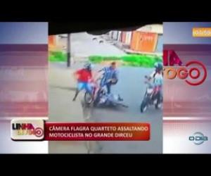 TV O Dia - LINHA DE FOGO 17 01 2020 CÂMERA FLAGRA QUARTETO ASSALTANDO MOTOCICLISTA NO GRANDE DIRCEU