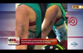 LINHA DE FOGO 20 01 2020 MULHER SOFRE QUEIMADURAS DURANTE SHOW PIROTÉCNICO EM BOATE DE TERESINA