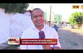 LINHA DE FOGO 22 01 2020 GUARDA MUNICIPAL RECUPERA MOTO ROUBADA DE JOVEM NO BAIRRO COLORADO