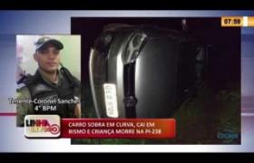 LINHA DE FOGO 28 01 2020 CARRO SOBRA EM CURVA, CAI EM ABISMO E CRIANÇA MORRE NA PI-238