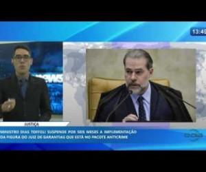 TV O Dia - O DIA NEWS 16 01 2020  Ministro Dias Toffoli adia por 6 meses implementação do juiz de garantias