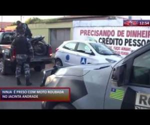 TV O Dia - ROTA DO DIA 21 01 2020 Homem é preso com moto roubada no Jacinta Andrade