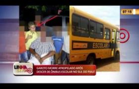 LINHA DE FOGO 12 02 2020 GAROTO MORRE ATROPELADO APÓS DESCER DE ÔNIBUS ESCOLAR NO SUL DO PIAUÍ