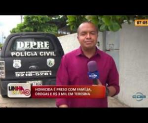 TV O Dia - LINHA DE FOGO 17 02 2020 HOMICIDA É PRESO COM FAMÍLIA, DROGAS E R$ 3 MIL EM TERESINA