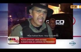 LINHA DE FOGO 26 02 20  Arma de fogo apreendida durante festa de carnaval no Promorar