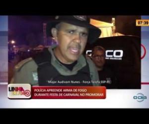 TV O Dia - LINHA DE FOGO 26 02 20  Arma de fogo apreendida durante festa de carnaval no Promorar