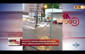 LINHA DE FOGO 26 02 20  Chuva em Teresina derruba árvores e deixa carros ilhados