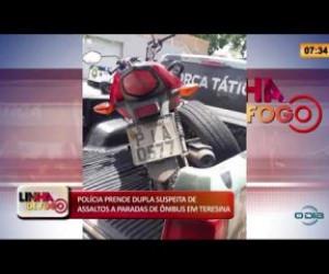 TV O Dia - LINHA DE FOGO 26 02 20  Polícia prende dupla suspeita de assaltos a paradas de ônibus