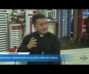 TV O Dia - O DIA NEWS 26 02 20  Padre Rômulo Castro - Entenda o significado da quarta-feira de cinzas