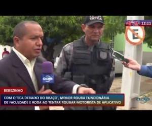 TV O Dia - ROTA DO DIA 21 02 20 Menor rouba funcionária de faculdade e tenta roubar motorista de aplicativo