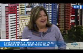 O DIA NEWS 03 03 20 Zenaide Lustosa (coord. política para mulheres) - Agenda para o 8 de março