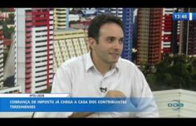 O DIA NEWS 09 03 20  Alexandre C. Branco (Coord. especial da receita do município) - IPTU 2020