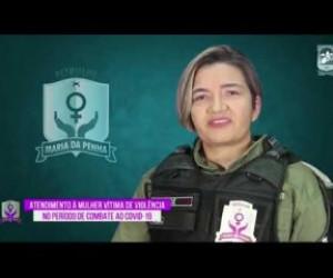 TV O Dia - ROTA DO DIA 31 03 20  Capitã Leoneide (Patrulha Maria da Penha) - Atendimento durante isolamento