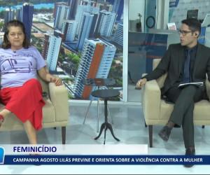 TV O Dia - Campanha Agosto Lilás previne e orienta sobre a violência contra a mulher 03 08 2021