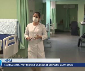 TV O Dia - Com queda de casos, HPM fecha ala de UTI para Covid-19 03 08 2021