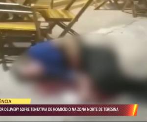 TV O Dia - Entregador delivery sofre tentativa de homicídio na zona norte de Teresina 05 08 2021