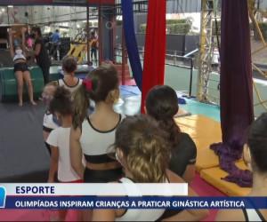 TV O Dia - Olimpíadas inspiram crianças a praticarem ginástica olímpica 03 08 2021