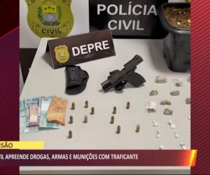 TV O Dia - Polícia Civil apreende drogas, armas e munições com traficante 05 08 2021