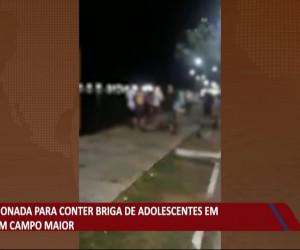TV O Dia - Polícia Militar é acionada para conter briga de adolescentes em praça de Campo Maior 03 08 2021