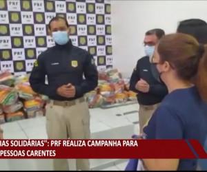 TV O Dia - PRF realiza campanha para ajudar pessoas carentes 04 08 2021