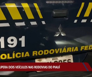 TV O Dia - PRF recupera dois veículos em rodovias do Piauí 03 08 2021