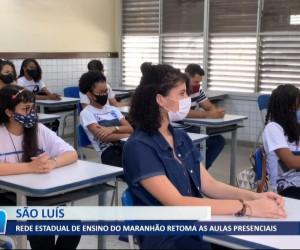 TV O Dia - Rede estadual de ensino do Maranhão retoma as aulas presenciais 03 08 2021