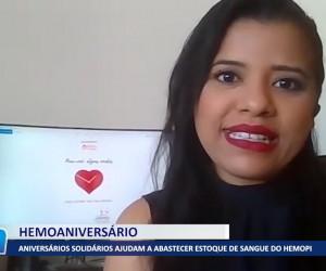 TV O Dia - Aniversários solidários ajudam a abastecer estoque de sangue do Hemopi 23 09 2021