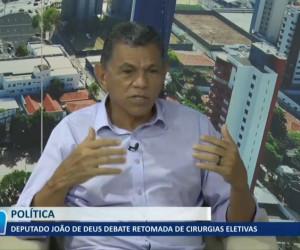 TV O Dia - Deputado João de Deus debate retomada de cirurgias eletivas 23 09 2021