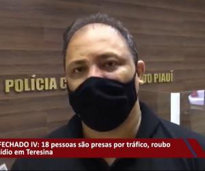 TV O Dia - Dezoito pessoas são presas por tráfico, roubo e homicídio em Teresina 28 09 2021