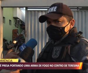 TV O Dia - Dupla é presa portando arma de fogo no centro de Teresina 22 09 2021