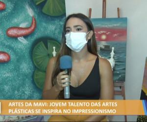 TV O Dia - Artes da Mavi: Talento das artes plásticas se inspira no impressionismo 27 10 2021