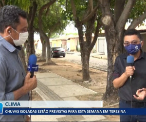 TV O Dia - Chuvas isoladas estão previstas para esta semana em Teresina 20 10 2021