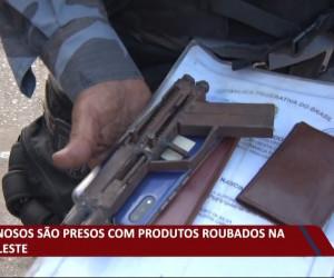 TV O Dia - Criminosos são presos com produtos roubados na zona leste 15 10 2021