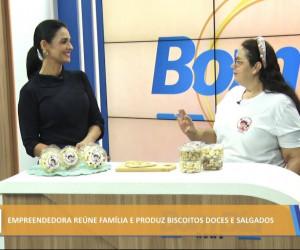 TV O Dia - Empreendedora reúne família e produz biscoitos doces e salgados 25 10 2021