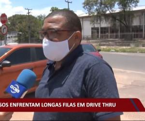 TV O Dia - Idosos enfrentam longas filas em Drive Thru 15 10 2021