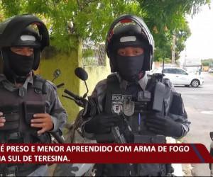 TV O Dia - Maior é preso e menor apreendido com arma de fogo na zona sul de Teresina 15 10 2021