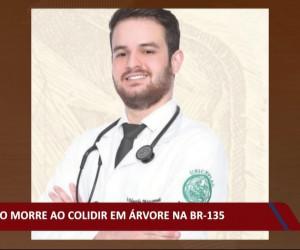 TV O Dia - Médico morre em acidente ao colidir em árvore na BR 135 21 10 2021