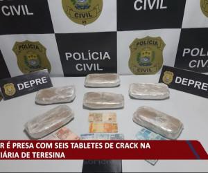 TV O Dia - Mulher é presa com seis tabletes de Crack na rodoviária de Teresina 20 10 2021