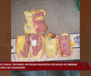 TV O Dia - Mulher é presa entregando sanduíche recheado de drogas em presídio no Maranhão 28 10 2021