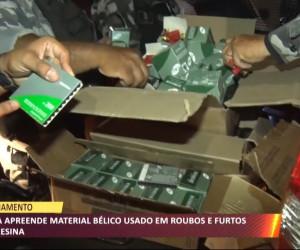 TV O Dia - Polícia apreende material bélico usado em roubos e furtos em Teresina 25 10 2021