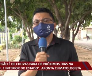 TV O Dia - Previsão de chuvas para os próximos dias na capital e interio do Estado, segundo climatologista