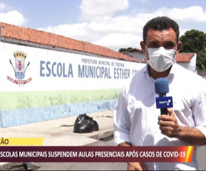 TV O Dia - Quatro escolas municipais suspendem aulas presenciais após casos de Covid 19 26 10 2021